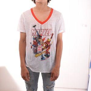 Marvel T-Shirt V Nec For Men, ultra light.